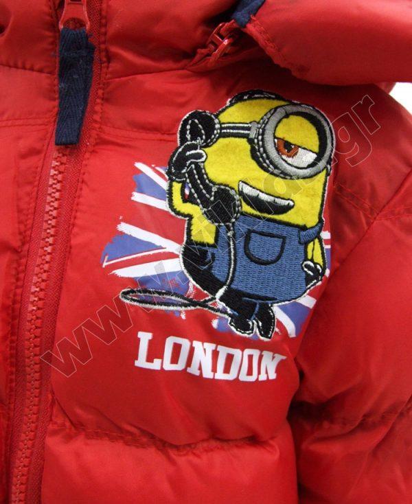 μπουφάν minions LONDON 12341 κόκκινο αγόρια