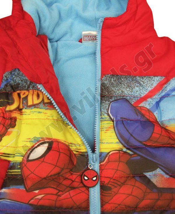 μπουφάν spiderman κόκκινο φλις επένδυση αγόρια