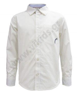 μακρυμάνικο λευκό πουκάμισο αγόρια 4925 nameit
