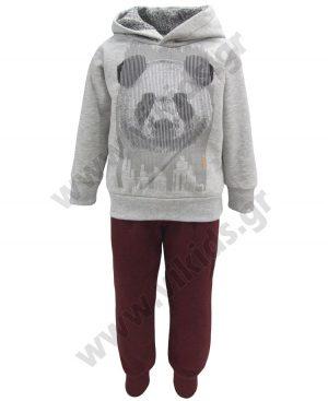 φόρμες φούτερ panda 93210 κουκούλα
