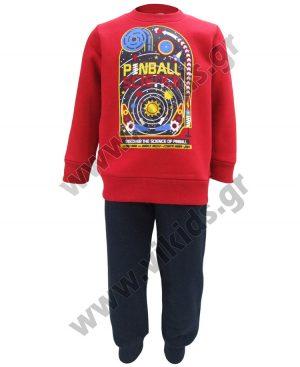 φόρμες φούτερ 93237 PINBALL κόκκινο
