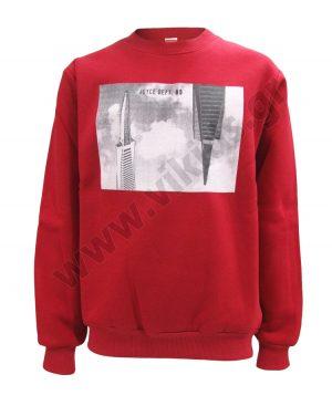 μπλούζα φούτερ ΟΥΡΑΝΟΞΥΣΤΕΣ 93503 κόκκινη αγόρια