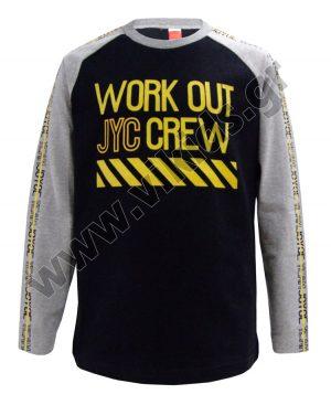 Μακρυμάνικη μπλούζα WORK OUT 93502 μαύρο