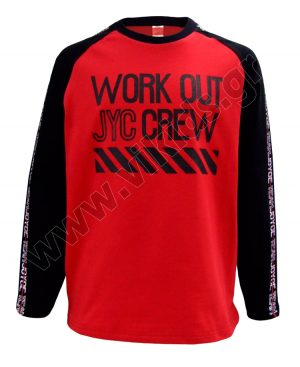 Μακρυμάνικη μπλούζα WORK OUT 93502 κόκκινο