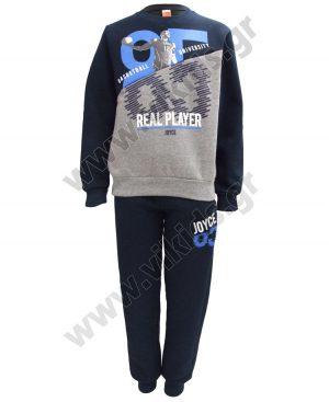 φόρμες φούτερ REAL PLAYER 93619 μπλε