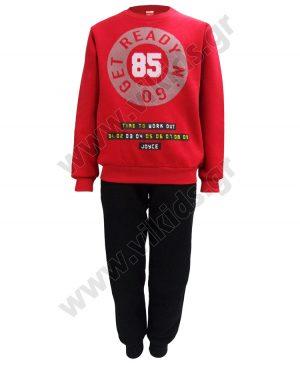 φόρμες φούτερ GET READY 93627 κόκκινο