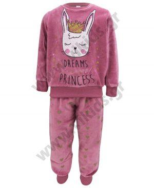 βελουτέ πυτζάμες κορίτσια PRINCESS dreams 19703