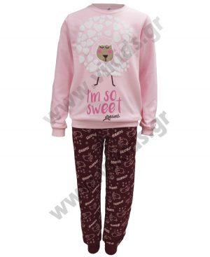 σετ πυτζάμες κορίτσια SWEET 19903 ροζ