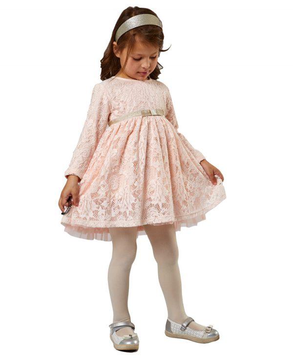 Φόρεμα ροζ δαντέλα EBITA 9218 κορίτσια