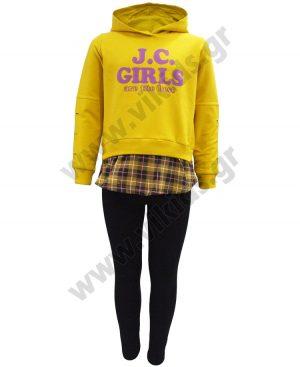 σετ φόρμες κουκούλα JC GIRLS 94612