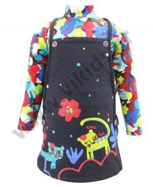φόρεμα σαλοπέτα tuc tuc 50287