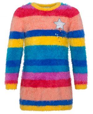 πλεκτό πολύχρωμο φόρεμα tuc tuc 50706