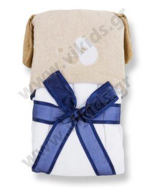 μπουρνούζι πετσέτα mayoral 9432 μπλε ρέλι