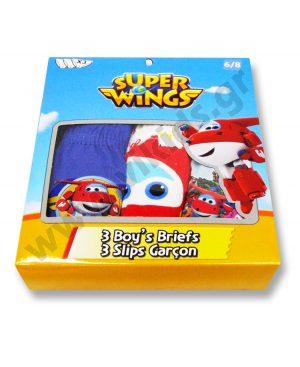 σετ 3 σλιπάκια Super Wings 3128 αγόρια