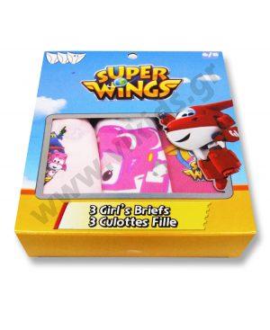 σετ 3 κυλοτάκια Super Wings 3127