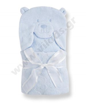 μπουρνούζι πετσέτα ΑΡΚΟΥΔΑΚΙ mayoral 9314 σιέλ