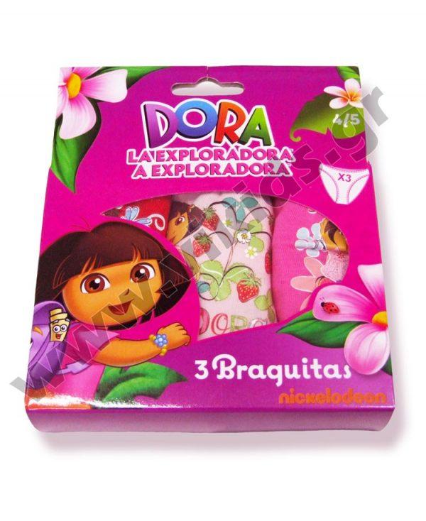 σετ 3 κυλοτάκια DORA 3032 κορίτσια