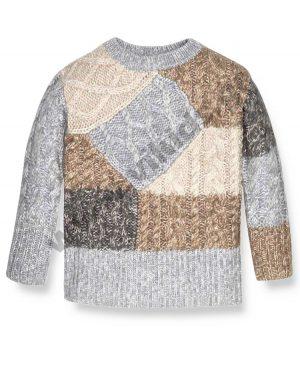 πλεκτή μπλούζα patchwork mayoral 7316 outlet