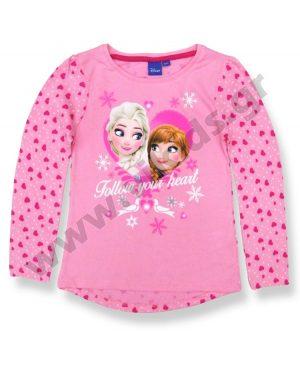 μακρυμάνικη μπλούζα FROZEN 10791 ροζ κορίτσια