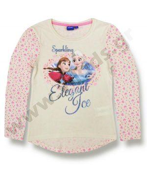 μακρυμάνικη μπλούζα FROZEN 10792 εκρού κορίτσια