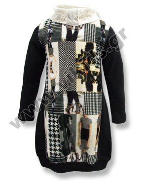 Φόρεμα fashion με γυριστό λαιμό 4933