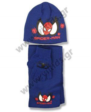 σκουφί κασκόλ γάντια SPIDERMAN 4153 ρουά