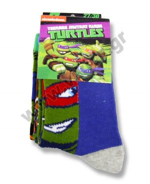 3 ζευγάρια κάλτσες Χελωνονιντζάκια 47511 αγόρια