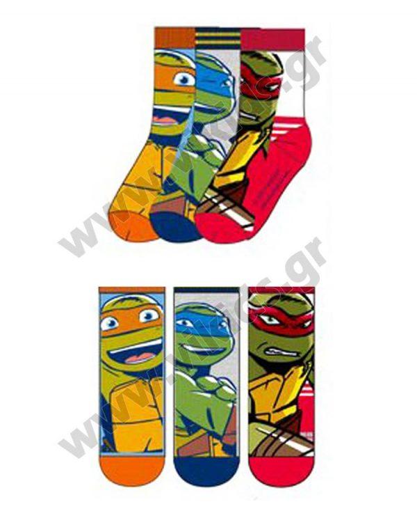 3 ζευγάρια κάλτσες Χελωνονιτζάκια 47512 αγόρια