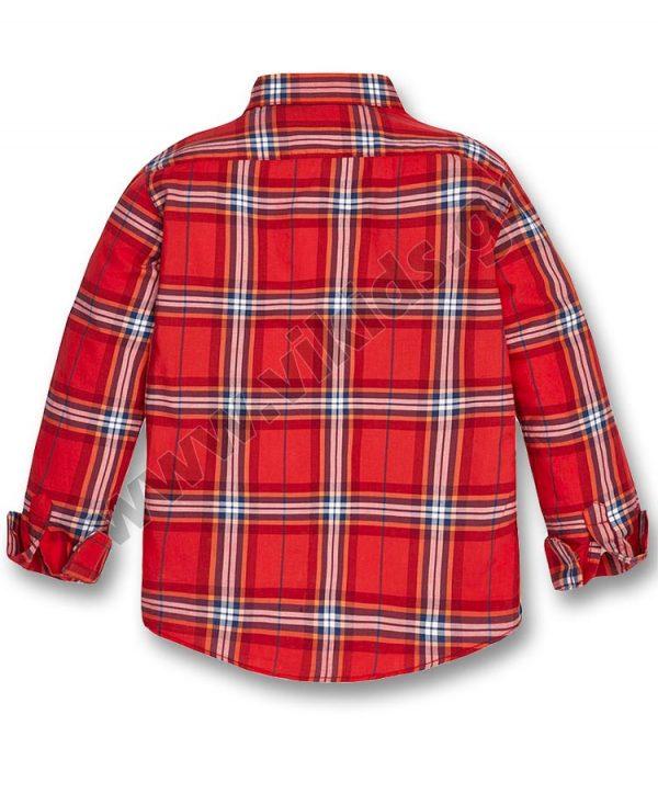 μακρυμάνικο καρώ πουκάμισο mayoral 7130 αγόρια