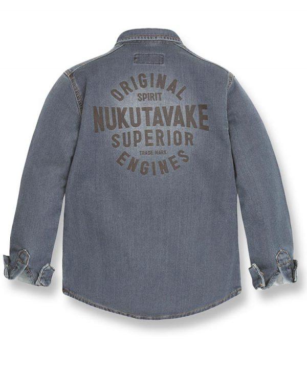 μακρυμάνικο πουκάμισο τζην φούτερ 7138 αγόρια
