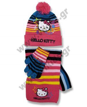 σκουφί κασκόλ γάντια HELLO KITTY 4045