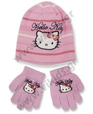 σκουφί γάντια HELLO KITTY 4295 ροζ