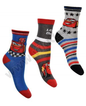 3 ζευγάρια κάλτσες CARS McQUEEN 06412