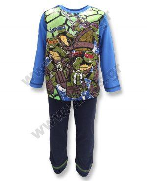 εποχιακές βαμβακερές πυτζάμες Χελωνονιτζάκια 21881 μπλε