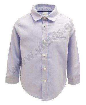 μακρυμάνικο σιέλ πουκάμισο 50005 για αγόρια