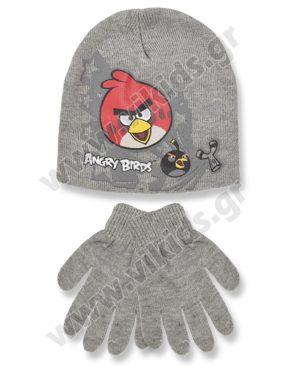 σκουφί γάντια ANGRY BIRDS 4157 γκρι