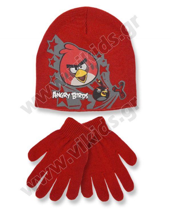 σκουφί γάντια ANGRY BIRDS 4157 κόκκινο