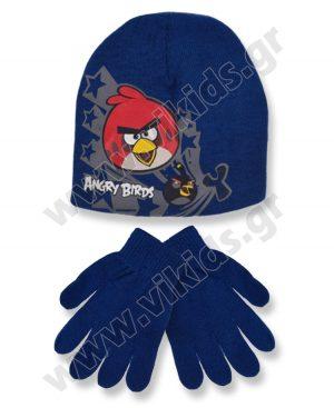 σκουφί γάντια ANGRY BIRDS 4157 ρουά
