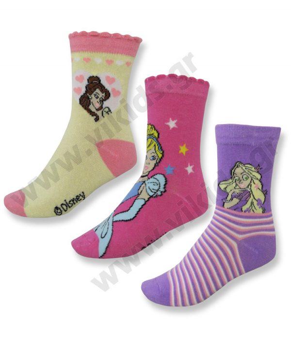3 ζευγάρια κάλτσες disney princesses 07222
