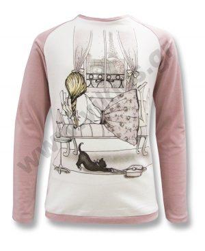 μακρυμάνικη μπλούζα PARIS 54441 κορίτσια