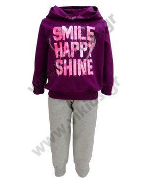 Σετ φούτερ κουκούλα HAPPY SMILE 94203