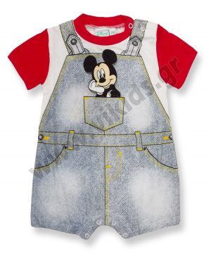 Κοντομάνικο φορμάκι Disney Mickey Mouse 46357 κόκκινο