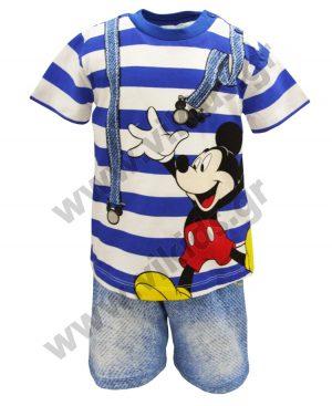 Βαμβακερό ριγέ σετ Mickey Mouse 46475 ρουά