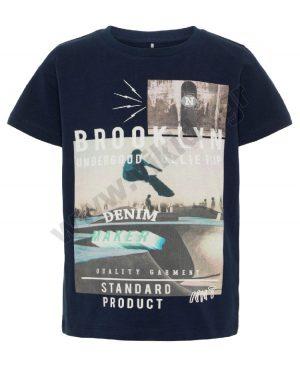 Κοντομάνικο T-Shirt BROOKLYN nameit 3858 μπλε