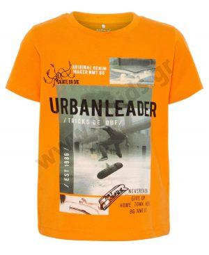 Κοντομάνικο T-Shirt BROOKLYN nameit 3858 πορτοκαλί