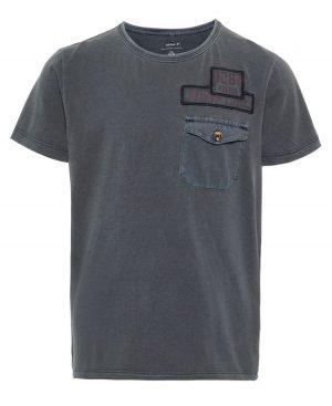 Dyed κοντομάνικο T-shirt nameit 4808 ανθρακί