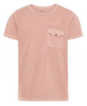 Dyed κοντομάνικο T-shirt nameit 4808 σομόν σκούρο