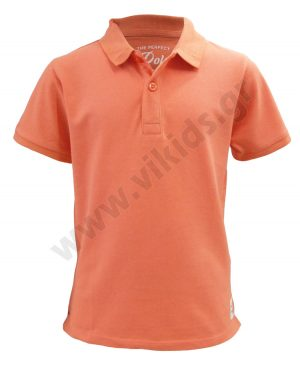 Κοντομάνικη πικέ polo μπλούζα zippy 4002 παλ πορτοκαλί