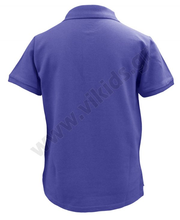 Κοντομάνικη πικέ polo μπλούζα zippy 4002 μπλε ρουά