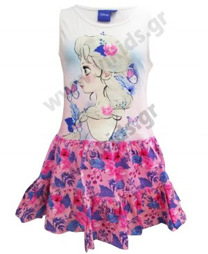 Αμάνικο βαμβακερό φόρεμα FROZEN Elsa 14221